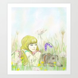 Beside one another Art Print
