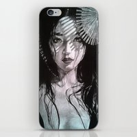 geisha iPhone & iPod Skins featuring Geisha by Mary Alice Art