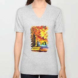Tardis Stay Alone Unisex V-Neck