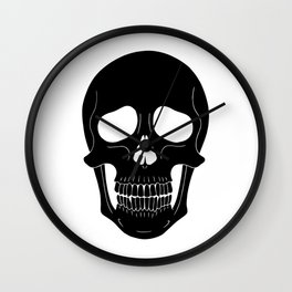 Skull (Black) Wall Clock