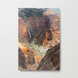 Waimea Canyon Rust Metal Print