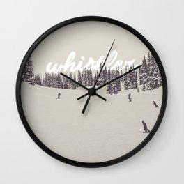 Whistler Winterwonderland Wall Clock