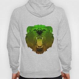 Bear | Green Polygon Triangle Abstract Artwork Hoody