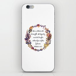 Christian quote iPhone Skin