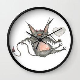 Smoking little cute devil Wall Clock