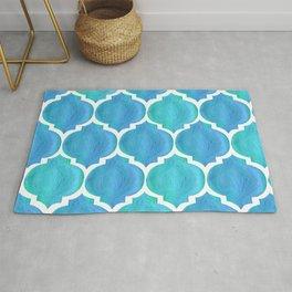 Blue Arabesque Rug