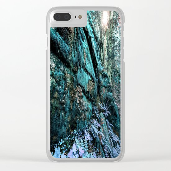 Enchanted Forest Wall Clear iPhone Case