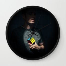 The distinguished gentleman with a cube heart Wall Clock