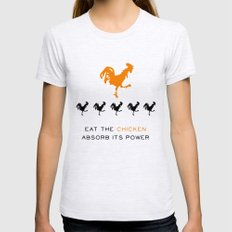 Smarter Chicken - Orange is the New Black Ash Grey Womens Fitted Tee MEDIUM