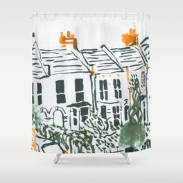 Across the road #3 Shower Curtain