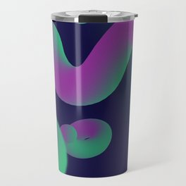 Dope gradient blobs from space Travel Mug