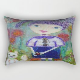 Viola & Lipstick - Whimsies of Light Children Series Rectangular Pillow