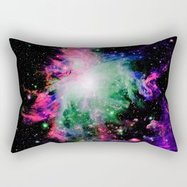 Orion Nebula Black Pyschedelic Rectangular Pillow