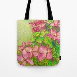 Satomi Dogwood, Pencil Sketch Tote Bag