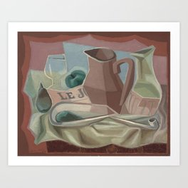 BROC ET CARAFE Art Print