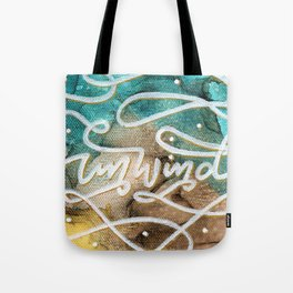 Unwind Canvas Tote Bag