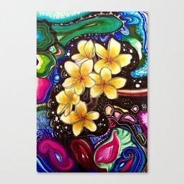 Yellow Plumerias Canvas Print