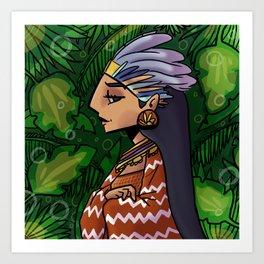 mayan girl Art Print