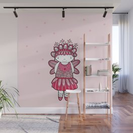 Pink Angel Wall Mural