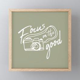 Focus on the Good Photography Framed Mini Art Print