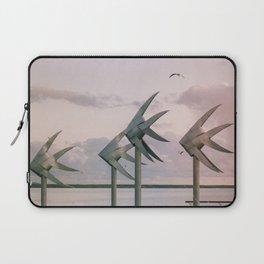 Cairns Woven Fish Sculpture (Group) | Cairns Australia Ocean Sunrise Travel Photography Laptop Sleeve
