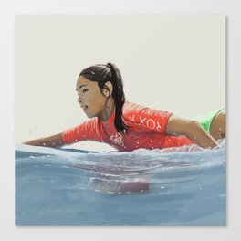 Roxy surf girl Canvas Print