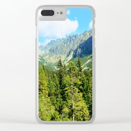 Landscape of the High Tatras Clear iPhone Case