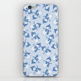 C1.3 snowman pattern iPhone Skin