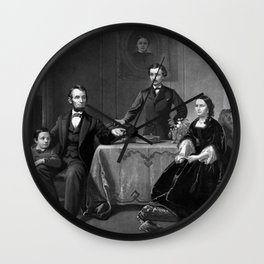 President Lincoln And His Family Wall Clock