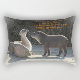 Who I am with you Rectangular Pillow