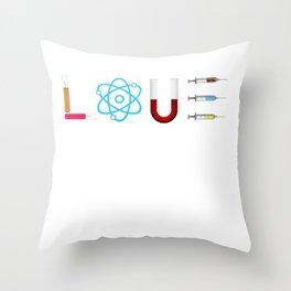Chemistry Laboratory Test tube Syringe Science Throw Pillow