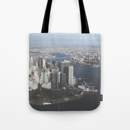 NYC Downtown Aerial Tote Bag
