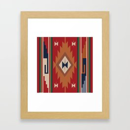 American Native Pattern No. 19 Framed Art Print