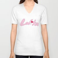 lolita V-neck T-shirts featuring Lolita by Unicorn Party
