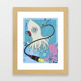 DJ Squid Framed Art Print