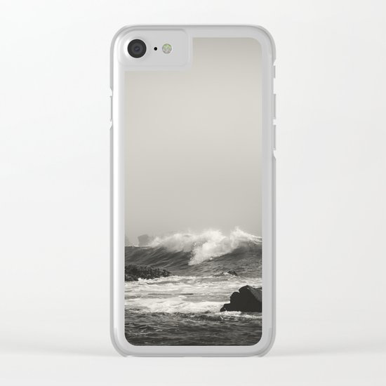 Into the waves VII Clear iPhone Case