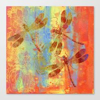 Canvas Prints featuring A Dragonflies QQW by Vitta