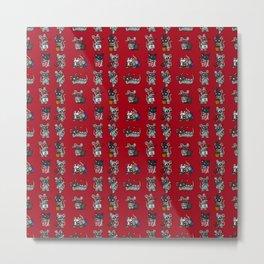 Phantom Squeaks Pattern Metal Print