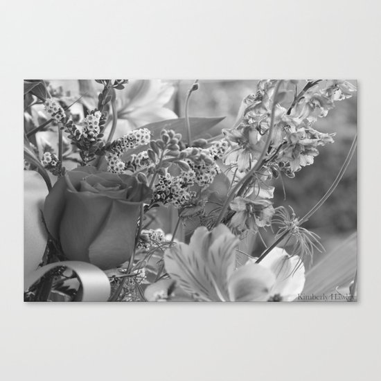 Bouquet B&W Canvas Print