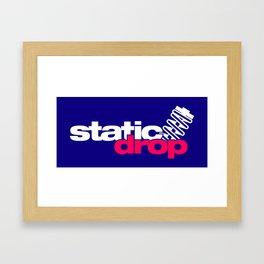 Static drop v2 HQvector Framed Art Print