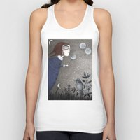 twilight Tank Tops featuring Winter Twilight by Judith Clay