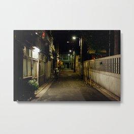 Tokyo Back Alley Metal Print