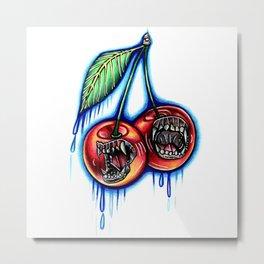 Barking Cherries Metal Print