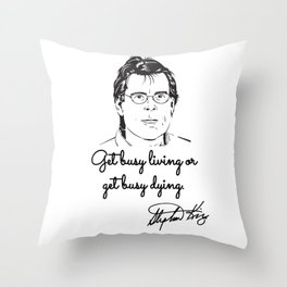 Stephen King quotes Different Seasons Throw Pillow