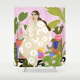 Hanging out with plants Shower Curtain