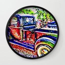 An Old Pickup Truck 3 Wall Clock