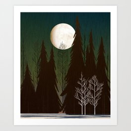 Into The Cold Winter Woods Art Print