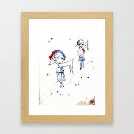 Two Deers Framed Art Print