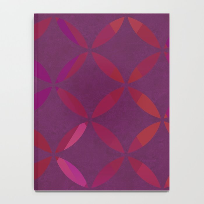 Fancy red and pink circle pattern Notebook