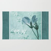 bill Area & Throw Rugs featuring crane's bill  by PaulaPanther
